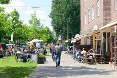 Wohngebiet Hamburg Veddel - ruhiges Wohnen in der Veddeler Brückenstraße.