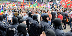 Demonstration am 08. Juli gegen G20 in Hamburg.