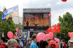 Treffpunkt Deichtorplatz  - Demonstration am 08. Juli gegen G20 in Hamburg.