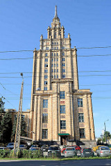 Sowjetische Architektur vom Gebäude der Akademie für Wissenschaft in Riga; eingeweiht 1960 - Architekten waren Osvalds Tīlmanis, Vaidelotis Apsītis, Kārlis Plūksne /  Baustil des Sozialistischen Klassizismus.