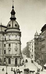 Erweiterungsbau vom Stadthaus / Sitz der Stadtverwaltung und Polizei Hamburg, erbaut 1889 an der Stadthausbrücke / Ecke Neuer Wall.