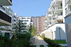 Neubaugebiet beim Sonninkanal in Hamburg Hammerbrook.