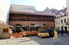Alter Konventhof in Riga - Teil der historischen Altstadt, die seit 1997  auf der Liste des UNESCO-Weltkulturerbe stehen.