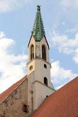 Kirchturm der St. Johanniskirche in Riga - ursprünglich Klosterkirche, Umbau um 1500.