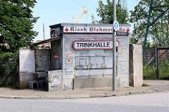 Geschlossener Kiosk / Trinkhalle an der Blohmstrasse / Kanalplatz in Hamburg Harburg.