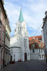 Kirche Mater Dolorosa / Mutter-Gottes-der-Schmerzen-Kirche - Riga; erbaut 1784, Baustil Klassizismus.