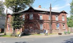 Holzarchitektur in Riga; historisches Wohngebäude