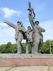 Sowjetischen Siegesdenkmal in Riga; errichtet um 1980.