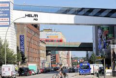 Brücken über die Nordkanalstraße in Hamburg Hammerbrook - die Straße würde nach dem Krieg durch Zuschüttung des Nordkanal gebildet.