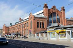 Agenskaln-Marktgebäude in Riga, eingeweiht 1911 - rationalen Jugendstil-Stil, Architekt Reinhold Schmelling.