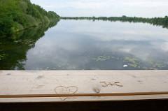 Naturschutzgebiet Untere Seeveniederung - Blick vom Beobachtungsturm Junkernfeldsee; der See wurde beim Bau des  Rangierbahnhofs Maschen von 1970 bis 1977 künstlich angelegt