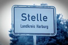 Dorfeingang / Ortsschild von Stelle, Landkreis Harburg.