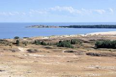 Blick von der Hohen Düne / Parnidis-Dünebei Nida auf das Kurische Haff; re. eine Landzunge die zu Kaliningrad / Russland gehört.