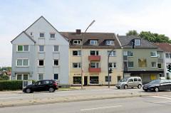 Wohnungsbau der 1960er Jahre in Hamburg Stellingen, Kieler Straße.