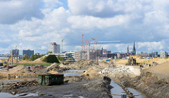 Baakenwerder - Baustelle an der Baakenwerder Strasse am Baakenhafen in der Hamburger Hafencity.