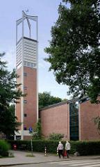 Kirche Zum Guten Hirten in Hamburg Stellingen / Langenfelde, geweiht 1961.