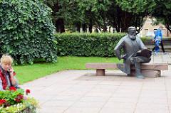 Carl Robert Jakobson Denkmal in Fellin / Viljandi, Estland - Schriftsteller und Pädagoge.
