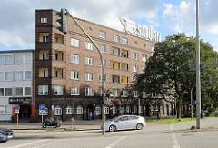 Expressionistischer Klinkerbau an der Billhorner Brückenstraße / Billstrasse in Hamburg Rothenburgsort; erbaut in den 1920er Jahre - Architekt Oberbaudirektor Fritz Schumacher.