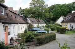 Reihenhaussiedlung in Hamburg Lokstedt, Hagendeel.