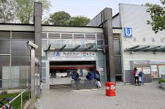 U-Bahn Haltestelle Rauhes Haus, 1967 in Betrieb genommen.
