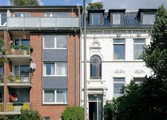 Historische + neue Architektur an der Horner Landstrasse in Hamburg Horn.