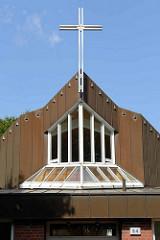 Kirche der Freien ev. Gemeinde in Norddeutschland; Emil Andresen Strasse in Hamburg Lokstedt.