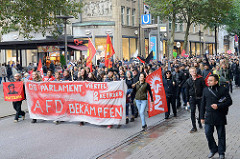 Demonstration am 25.09.17 in Hamburg gegen den Einzug der AfD in den Bundestag.