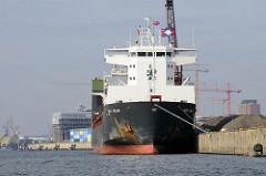 Mehrzweck-Frachtschiff BBC Kelan am Kirchenpauerkai im Hamburger Hafen.