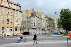 Mehrstöckige Wohnblocks beim Friedrichplatz in Torgau.