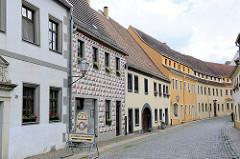 Historische Wohnhäuser in der Schloßstraße von Torgau.