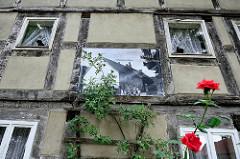 Historische Architektur in der Blücherstasse von Wartenburg; leerstehende Gebäude - erbaut 1796.
