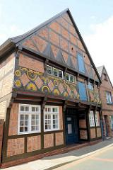 Baudenkmal in Winsen / Luhe - historisches Blaufärberhaus, älteste Bürgerhaus der Stadt - erbaut um 1585.
