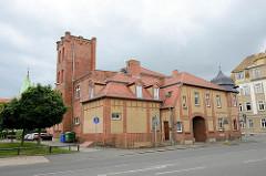 Aus Backstein gebaute Jahnturnhalle in Torgau - erbaut 1910.
