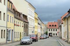 Wohnhäuser in der Rudolf Breitscheid Straße von Torgau.
