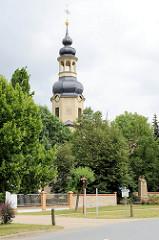 Kirchturm der St. Petrikirche in  Wartenburg, errichtet um 1727 / Barock