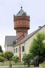 Wasserturm in Torgau, erbaut 1903 - Architekt Conrad; als wassertechnische Anlage unter Denkmalschutz.