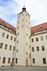 Treppenturm vom Schloss Pretzsch (Elbe).