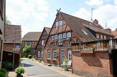 Historische Häuser, Fachwerkgebäude im Kehrwieder von Winsen (Luhe)