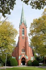 Blankeneser Kirche Am Markt in Hamburg Blankenese / Marktkirche; erbaut 1896 - Architekt Ernst Ehrhardt.