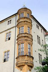 Eckerker am Schloss Hartenfels in Torgau - Denkmal der frühen deutschen Renaissance.