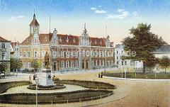 Historische Ansicht vom Friedrich Wilhelm Platz in  Elbing - Kaiserliches Postamt, erbaut 1887.