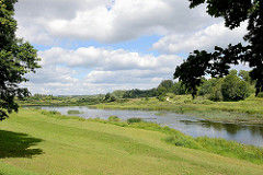 Fluss Venta / Windau bei Kuldīga / Lettland.