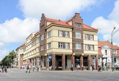 Historisches Geschäftshaus, Wohnhaus an der Naujojo Sodo g. in Klaipėda, Litauen.