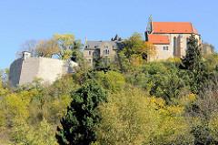 Schloss / Burg Mansfeld - Befestigungsanlage bei der Stadt Mansfeld; Baubeginn um 1500 - heut Nutzung  als moderne Christlichen Jugendbildungs- und Begegnungsstätte.