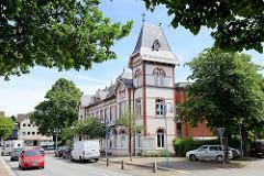 Polizeizentralstation von Geesthacht im historischen Gebäude; erbaut 1931 - Architekt Fritz Schumacher.