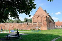 Rekonstruiertes Burggebäude in Elbląg / Elbing.