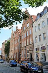 Altstadt in Elbląg / Elbing - teilweise rekonstrierte oder dem ursprünglichen Baustil nachempfundene Wohnhäuser.