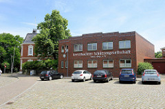 Flacher Ziegelbau,  Sitz der Geesthachter Schützengesellschaft.