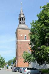 Gotische Sankt Simons-Kirche in der Altstadt von Valmiera, errichtet 1283.