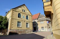 Blick vom Postplatz zur Lutherstraße in Mansfeld.